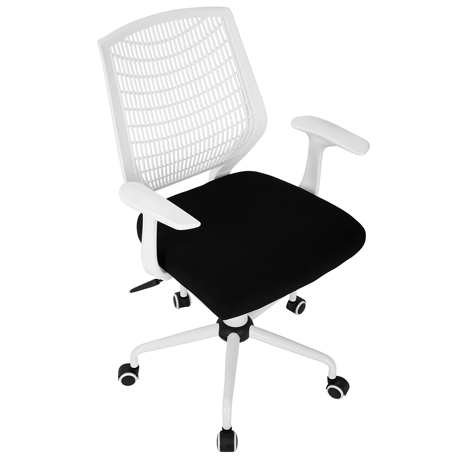 Norfolk White + Black Adjustable Contemporary Office Chair