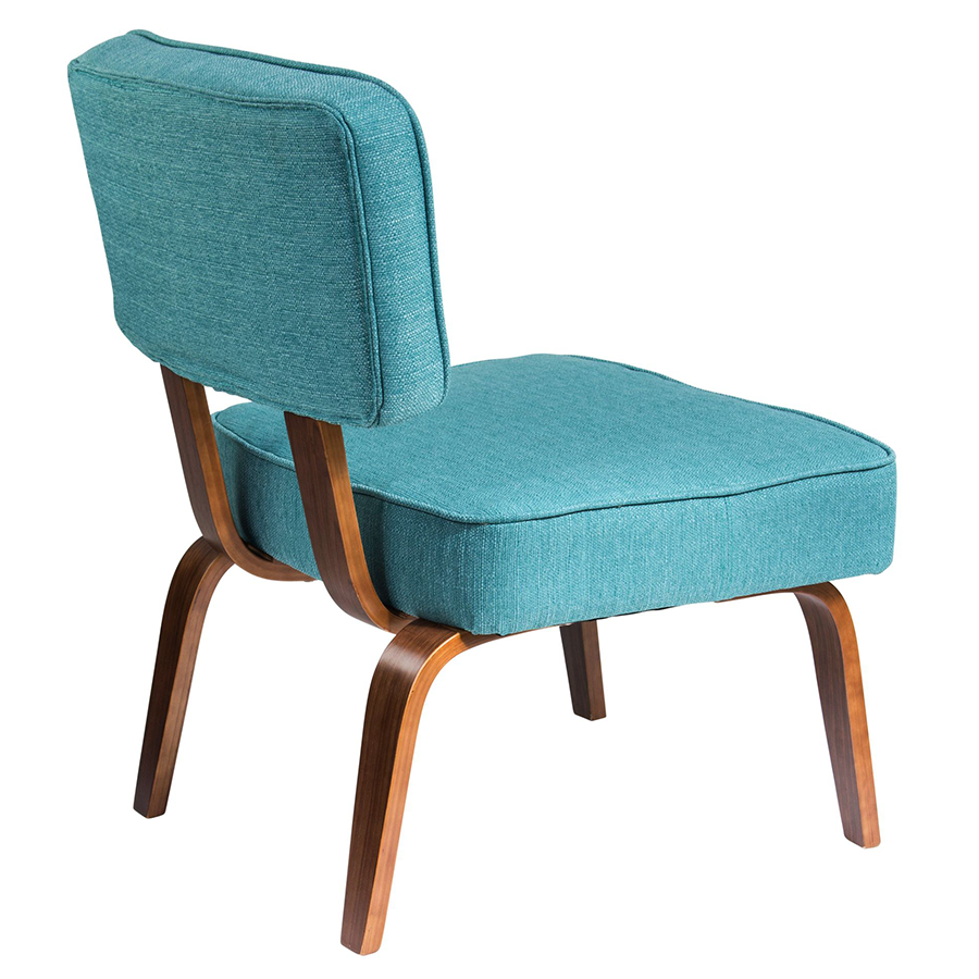 Norwich Teal Fabric + Wood Contemporary Chair