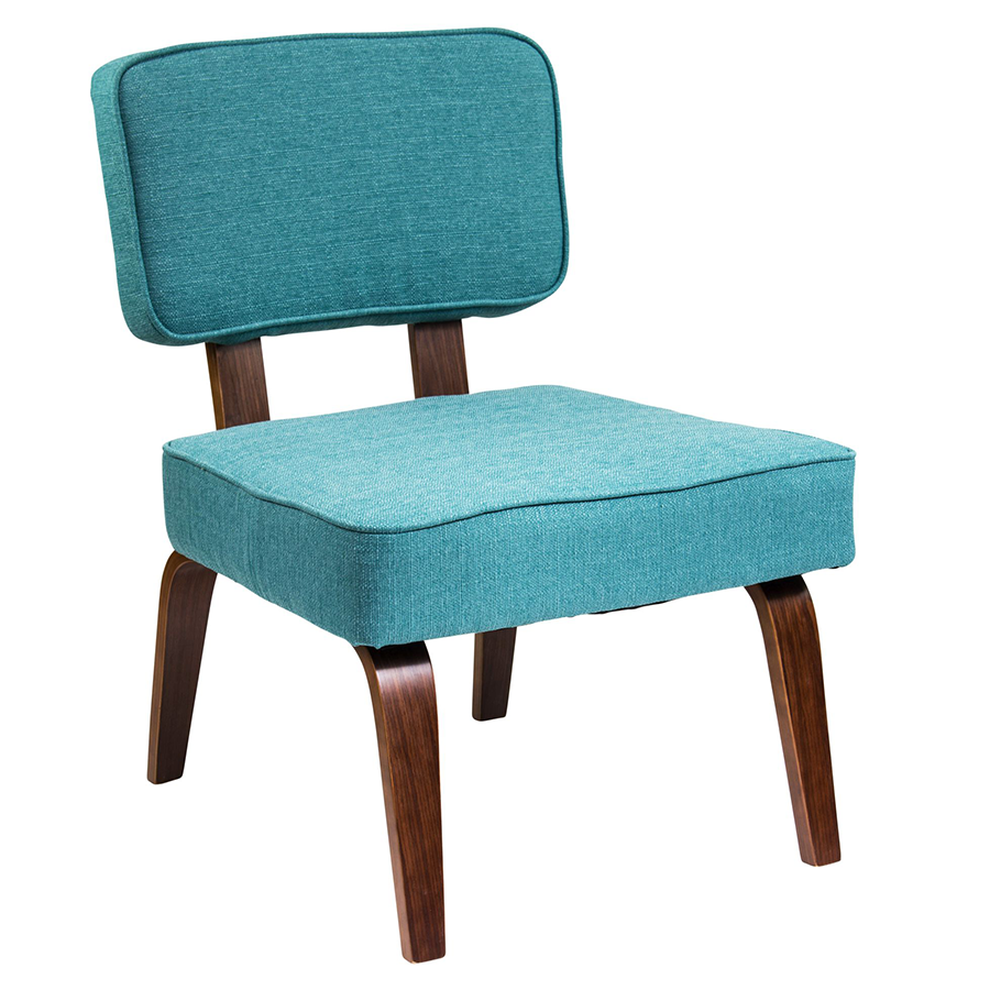 Modern Chairs Norwich Teal Accent Chair Eurway