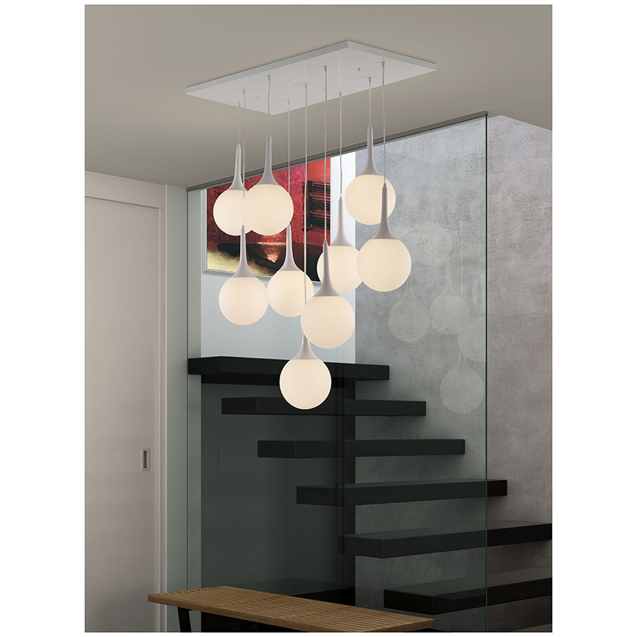 Nucleus Hanging Light in Entry