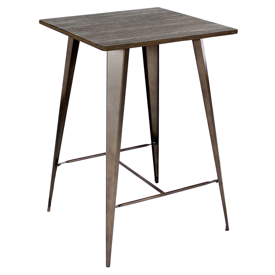 Oakland Antique Modern Industrial Bar Table