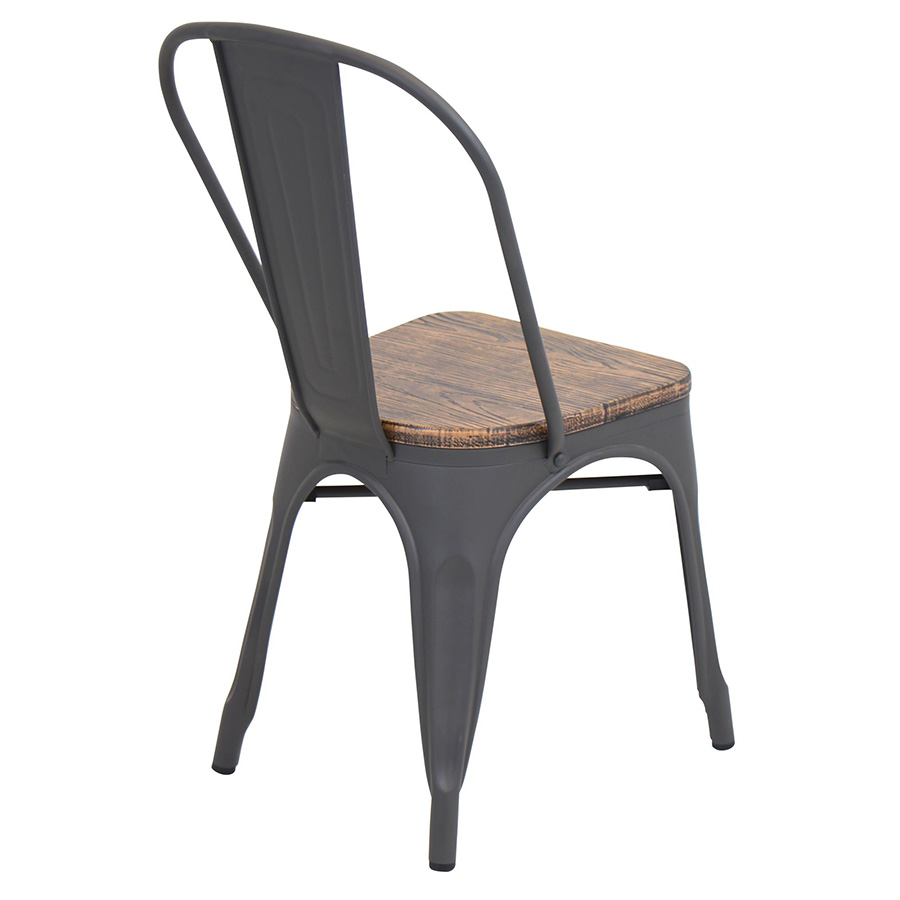 Oakland Rustic Modern Dining Chair - Back View