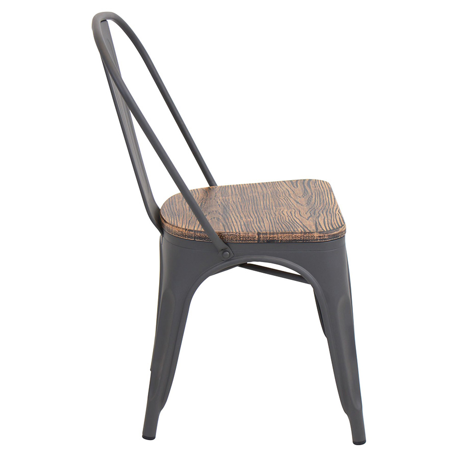 Oakland Rustic Modern Dining Chair - Side View