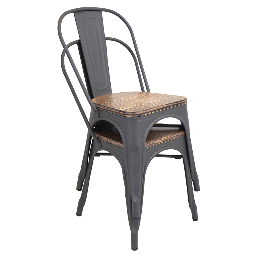 Oakland Rustic Modern Dining Chair - Stacked