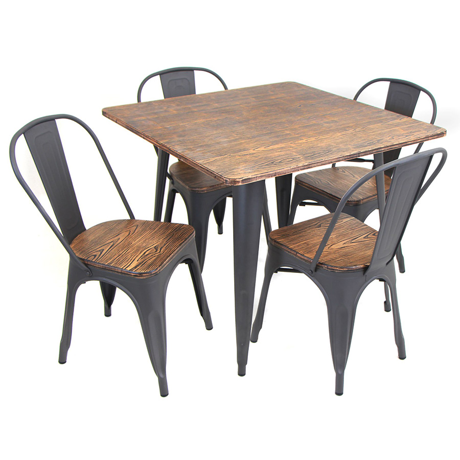 Oakland Modern Rustic Industrial Dining Set