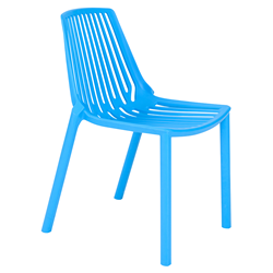 Oasis Blue Modern Stacking Chair