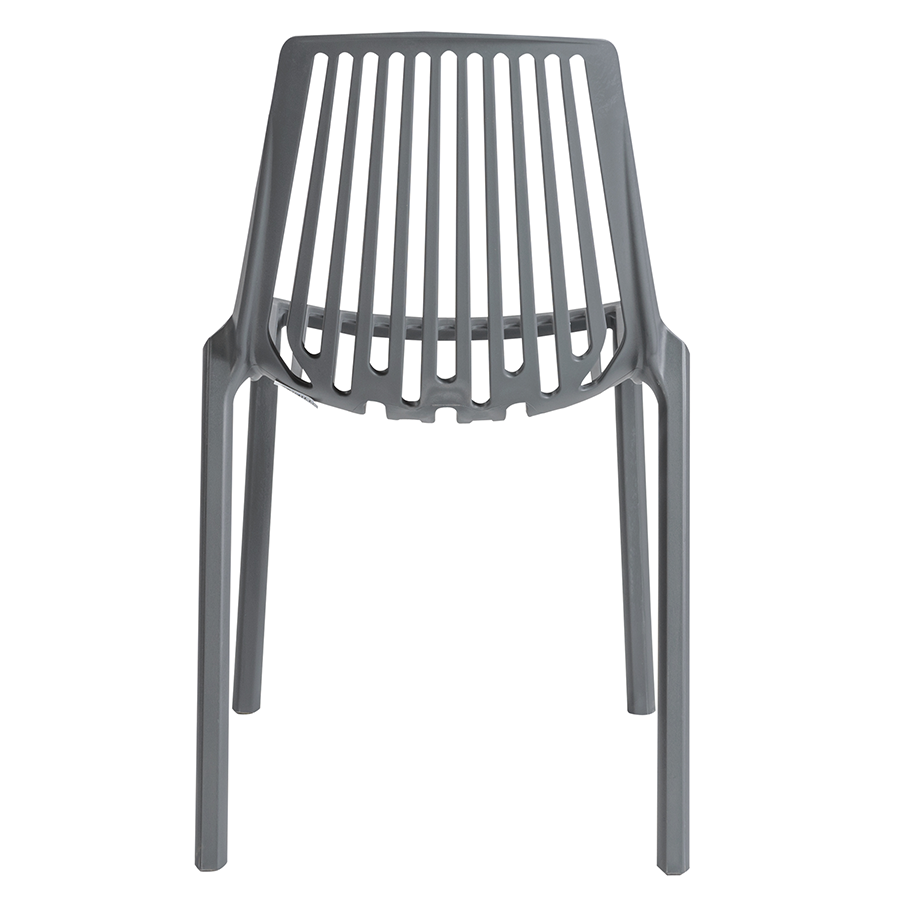 Oasis Gray Modern Stacking Side Chair