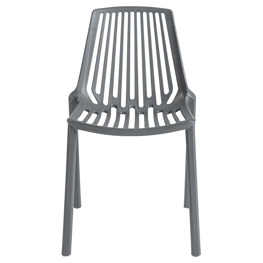 Oasis Gray Contemporary Stacking Chair