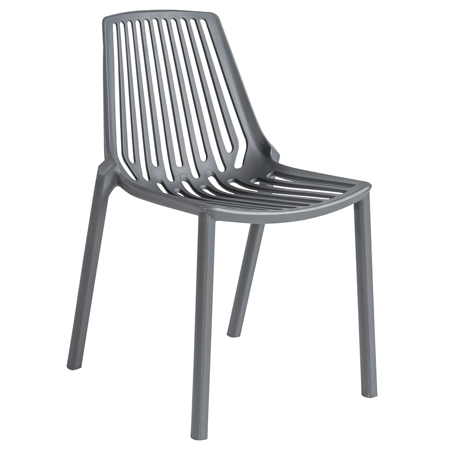 Oasis Gray Modern Stacking Chair