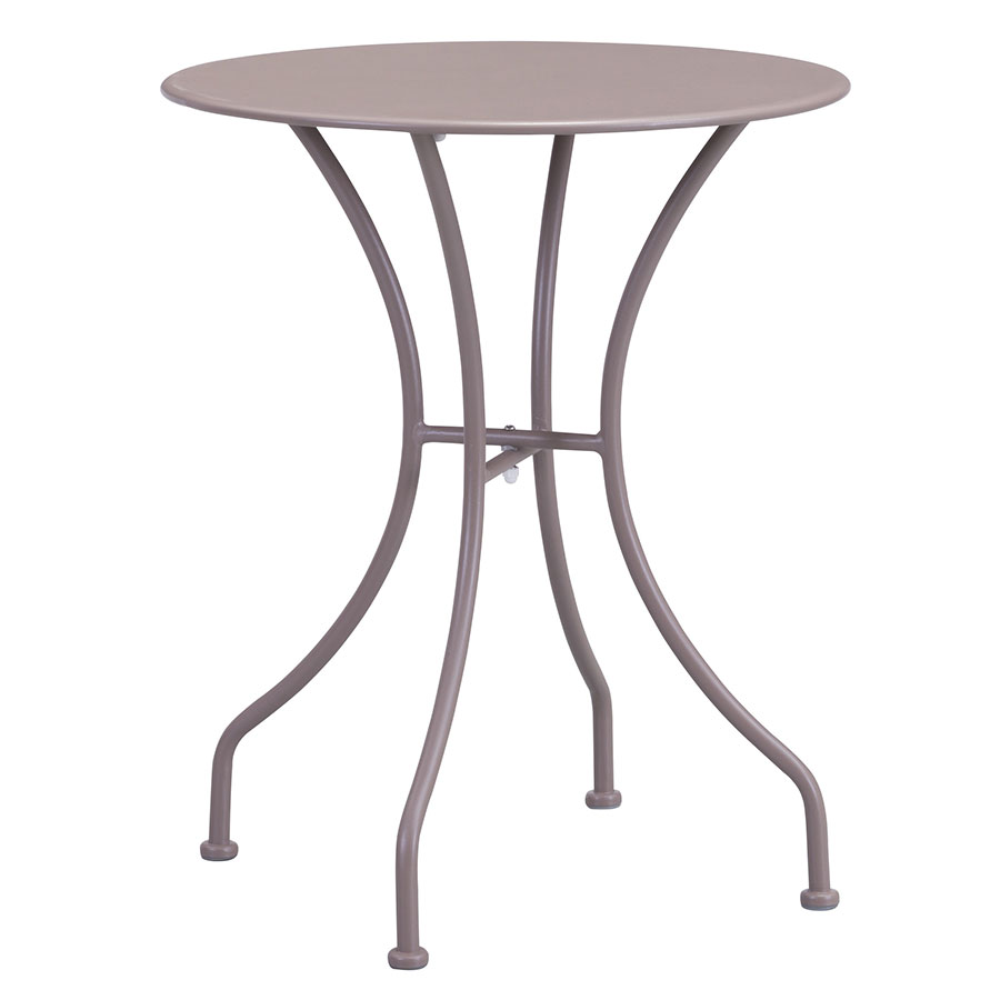 Octavio Taupe Round Modern Outdoor Dining Table