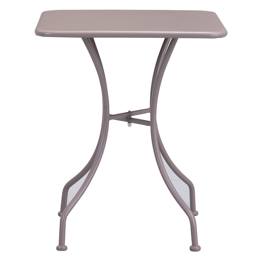 Octavio Taupe Square Contemporary Outdoor Dining Table