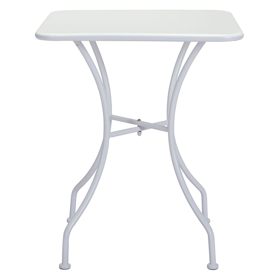 Octavio White Square Contemporary Outdoor Dining Table