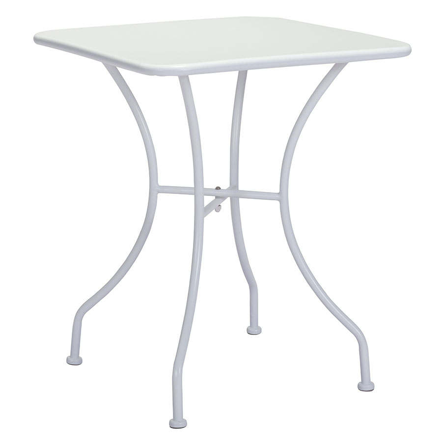 Octavio White Square Modern Outdoor Dining Table