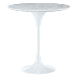 "Odyssey 20"" Round Marble Modern Side Table"