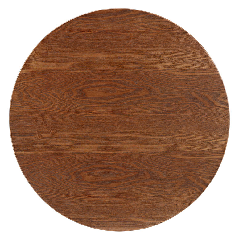 Odyssey 20 Quot Round Walnut Modern Side Table Eurway