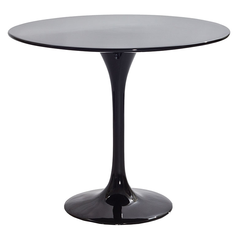 "Odyssey 24"" Round Black Modern Side Table"