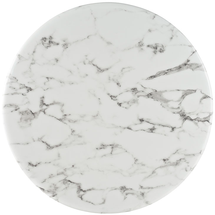 "Odyssey 28"" Round Marble Modern Bar Table Top"