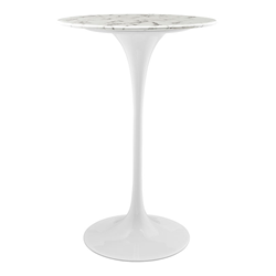 "Odyssey 28"" Round Marble Modern Bar Table"