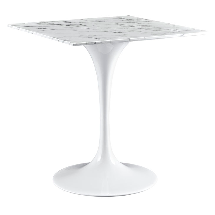"Odyssey 28"" Square Marble Modern Dining Table"
