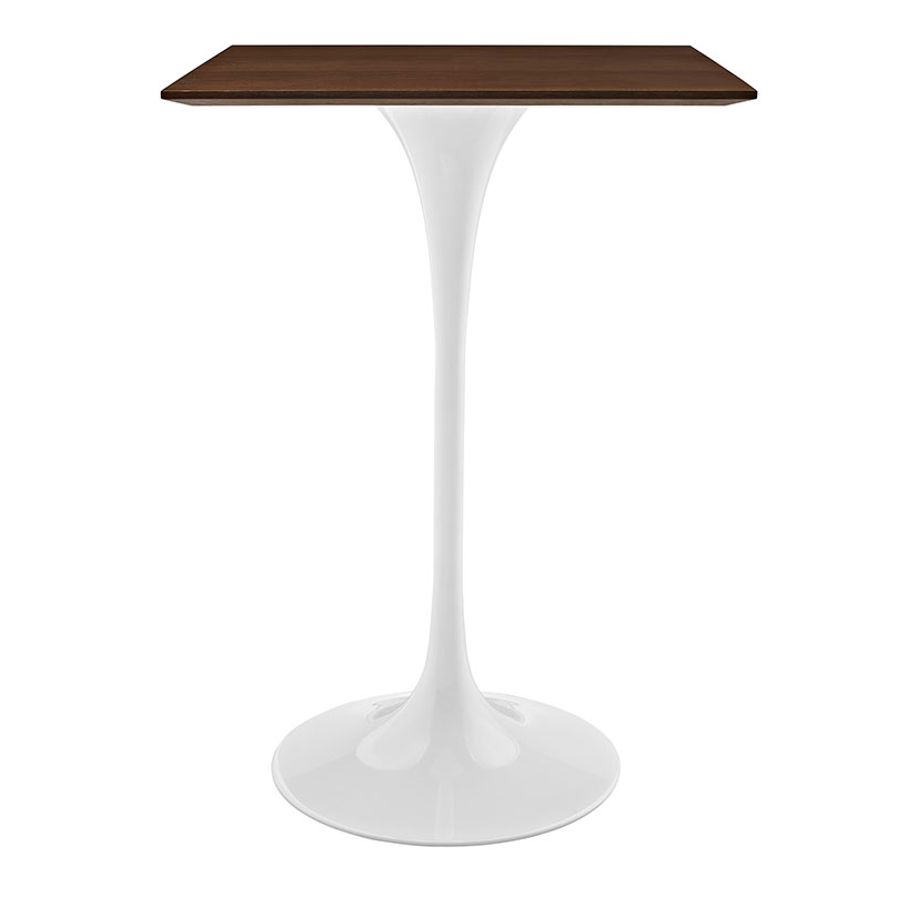"Odyssey 28"" Square Walnut Contemporary Bar Table"