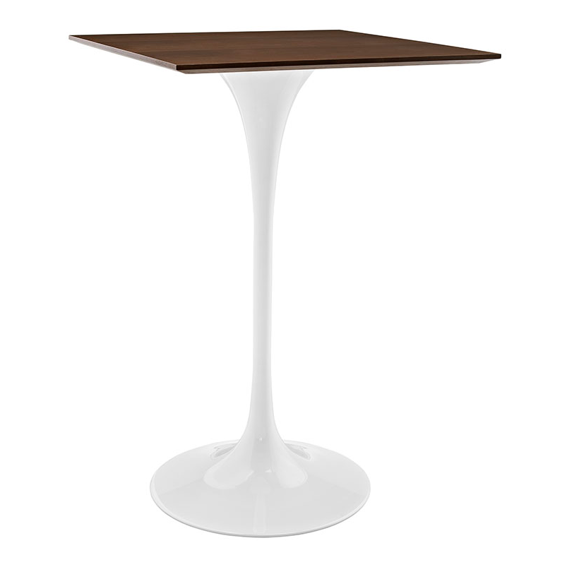 "Odyssey 28"" Square Walnut Modern Bar Table"