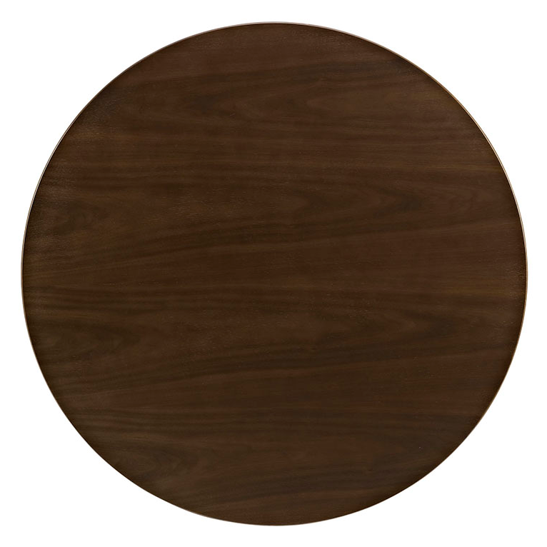 "Odyssey 36"" Round Walnut Modern Coffee Table Top"