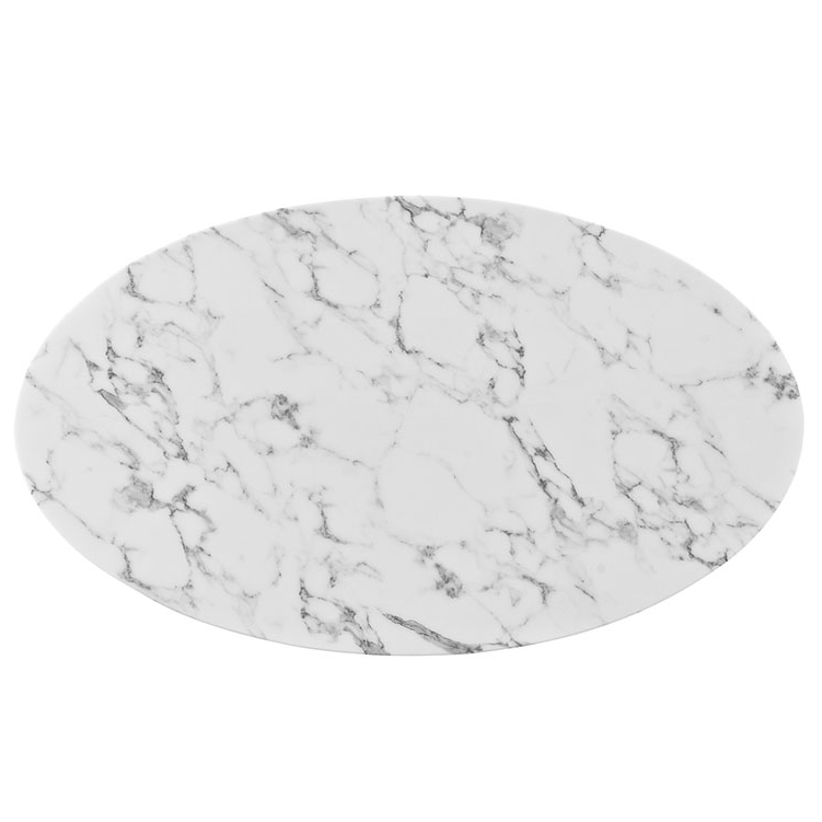 Odyssey 48 Quot Oval White Marble Modern Dining Table Eurway