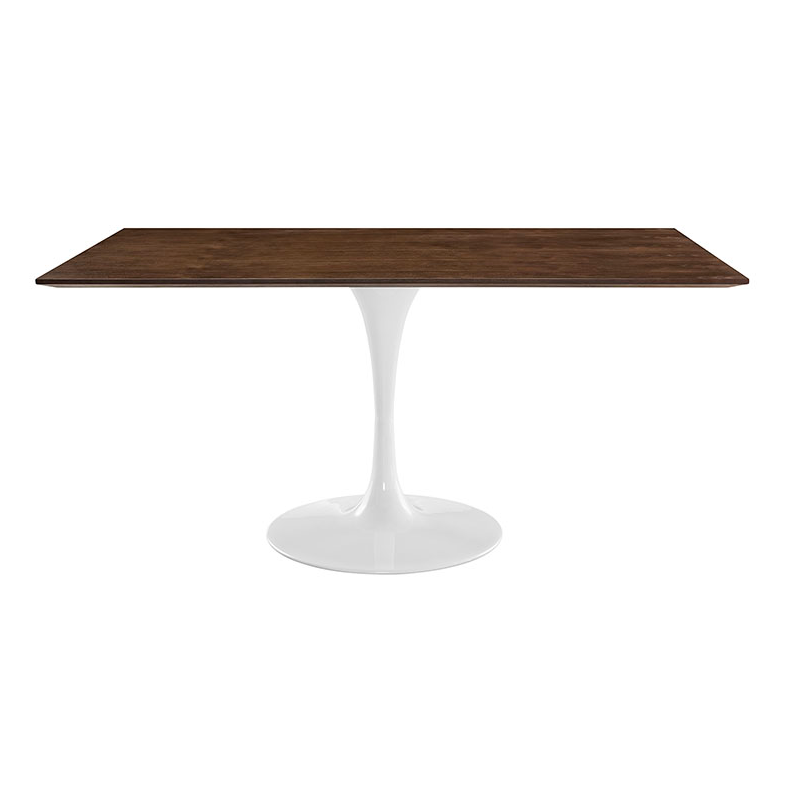 odyssey 60 rectangle walnut modern dining table eurway