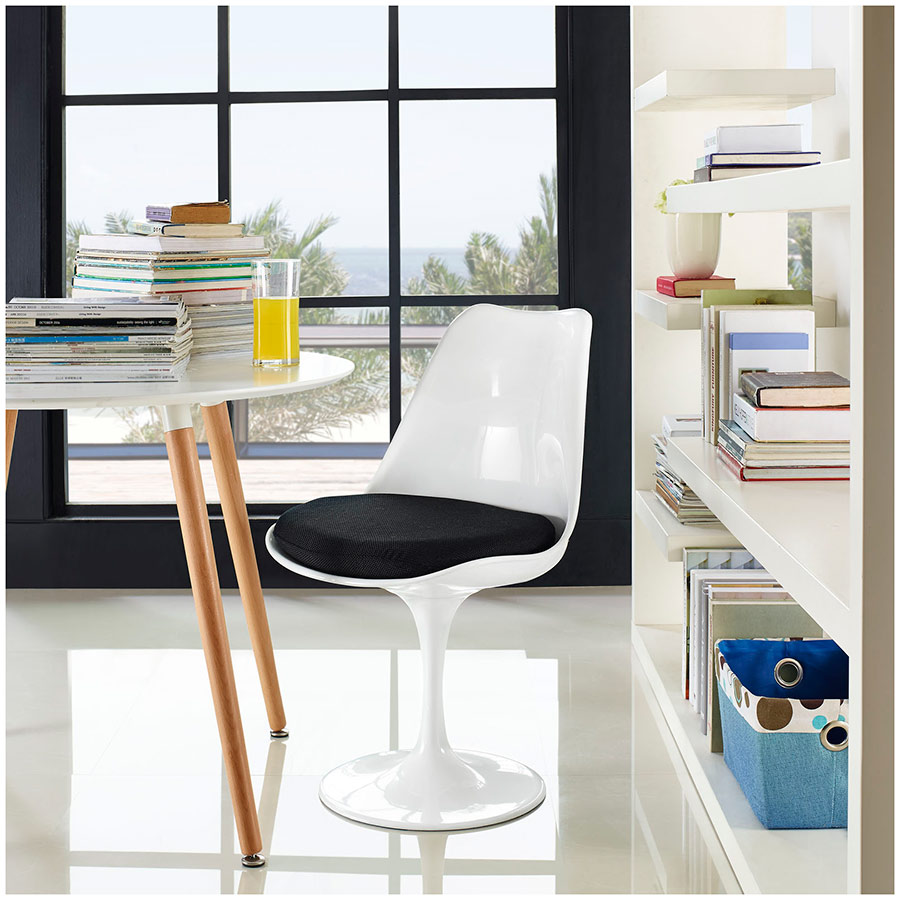 Odyssey Side Chair in White and Black