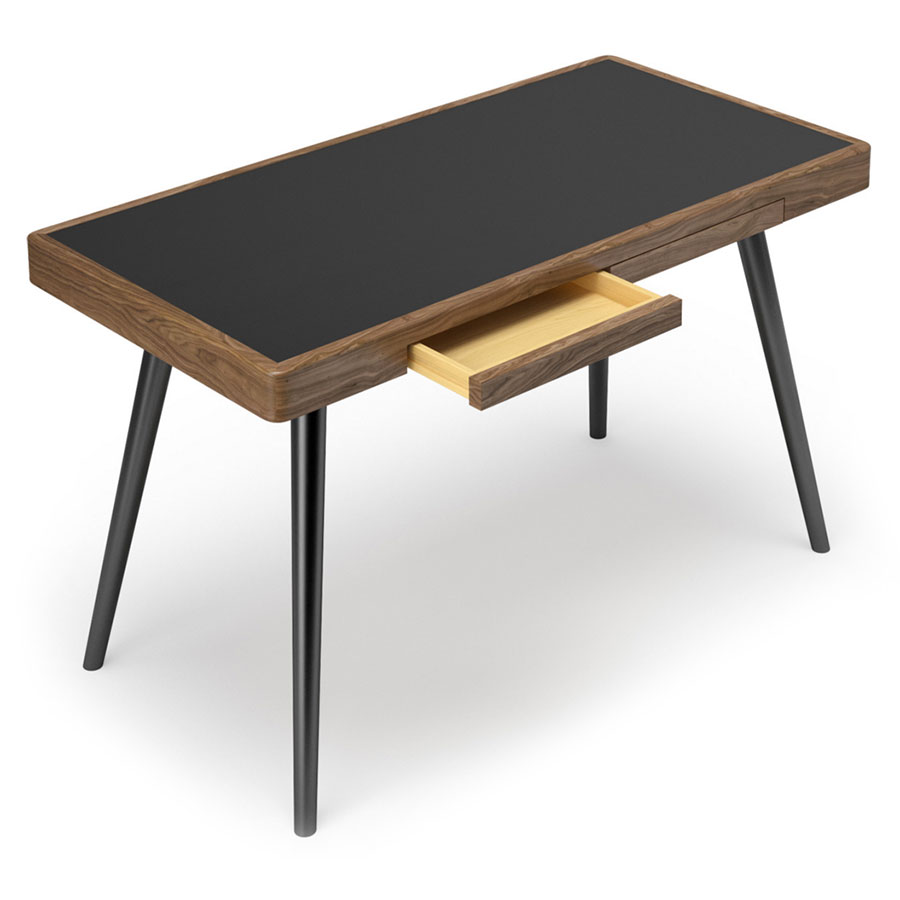 Modern Desks Ogden Black Desk Eurway Furniture