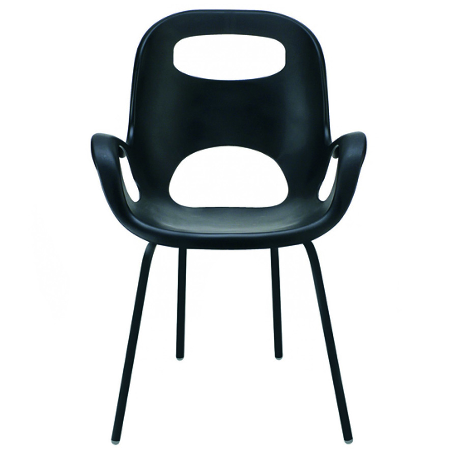Oh Dining Chair in Black w/ Black Legs