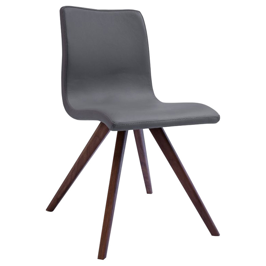 Oksana Gray Contemporary Dining Chair