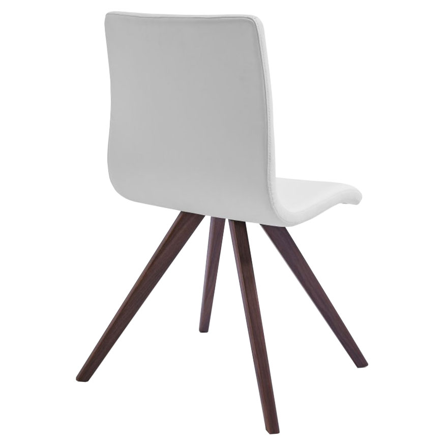 Oksana White Contemporary Dining Chair Back