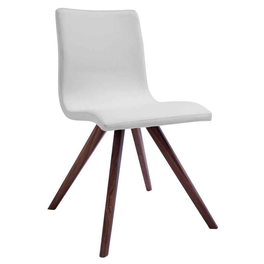 Oksana White Contemporary Dining Chair