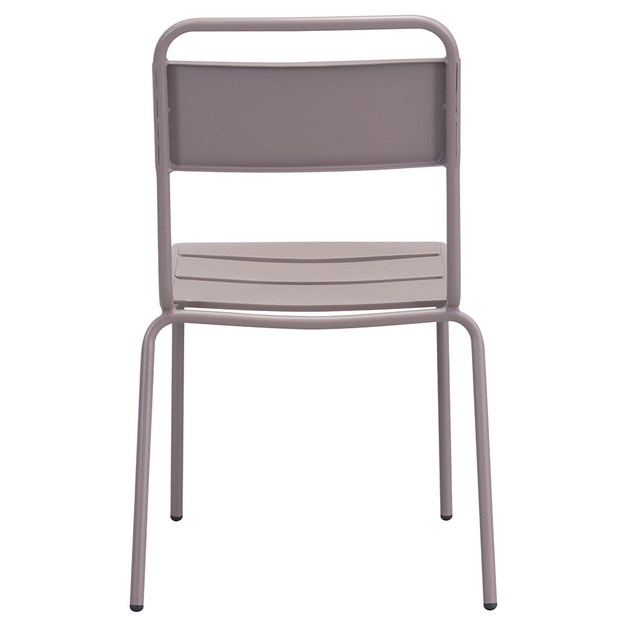 Orestes Taupe Steel Contemporary Dining Chair
