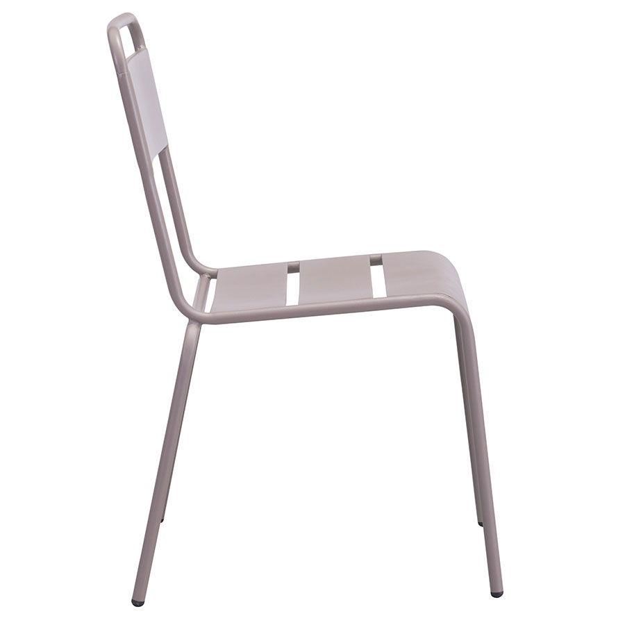 Orestes Taupe Steel Modern Outdoor Dining Chair