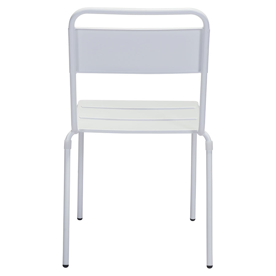 Orestes White Metal Modern Outdoor Dining Chair