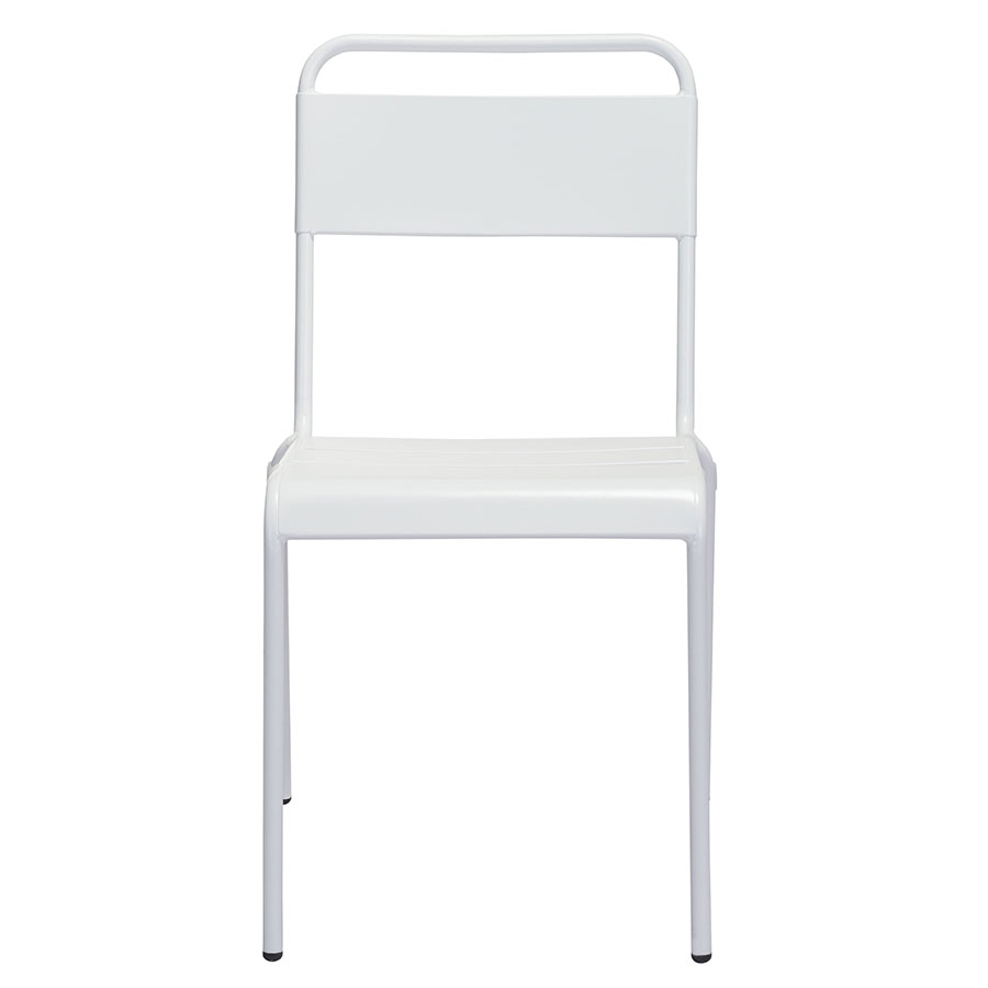 Orestes White Contemporary Outdoor Dining Chair