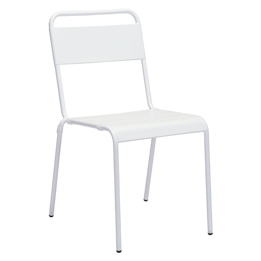 Orestes White Modern Outdoor Dining Chair