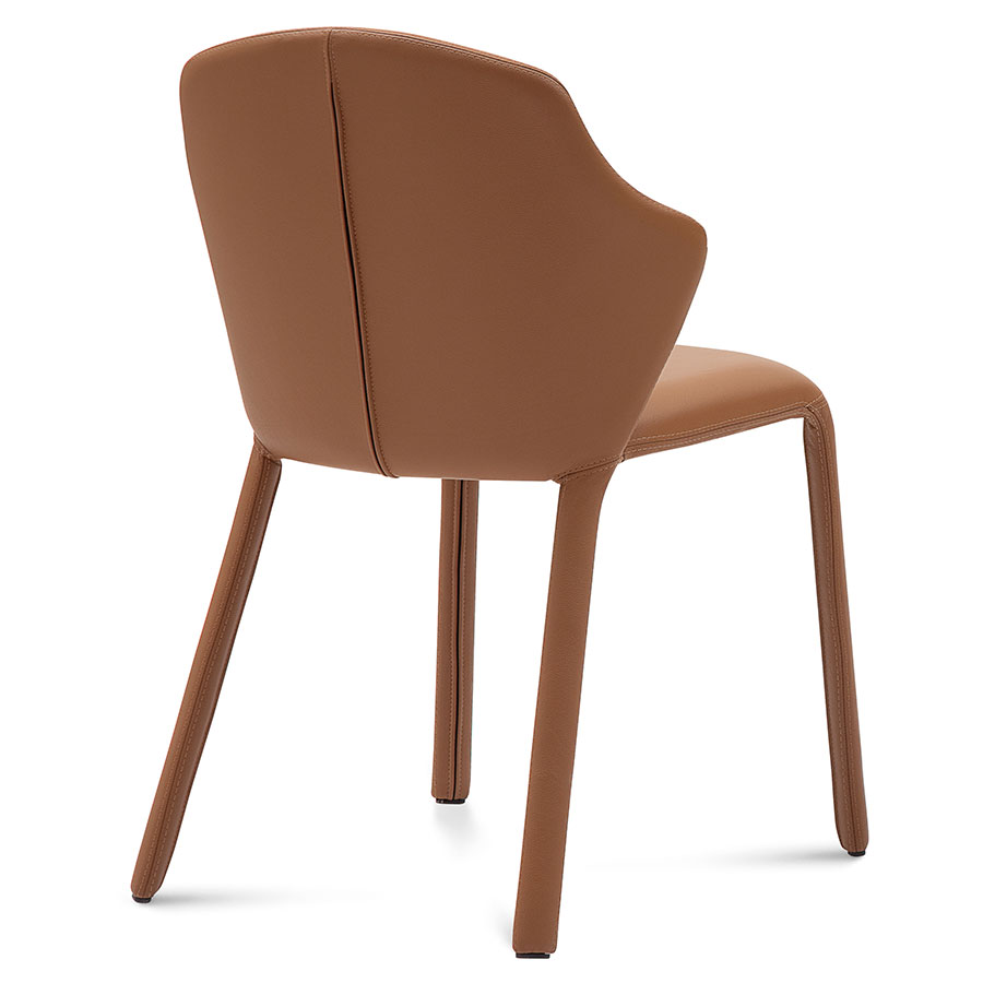 Orion Tobacco Leather Modern Dining Chair