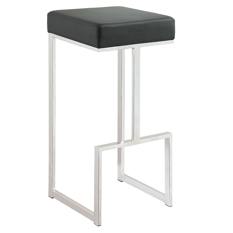 Orly Black Modern Bar Stool