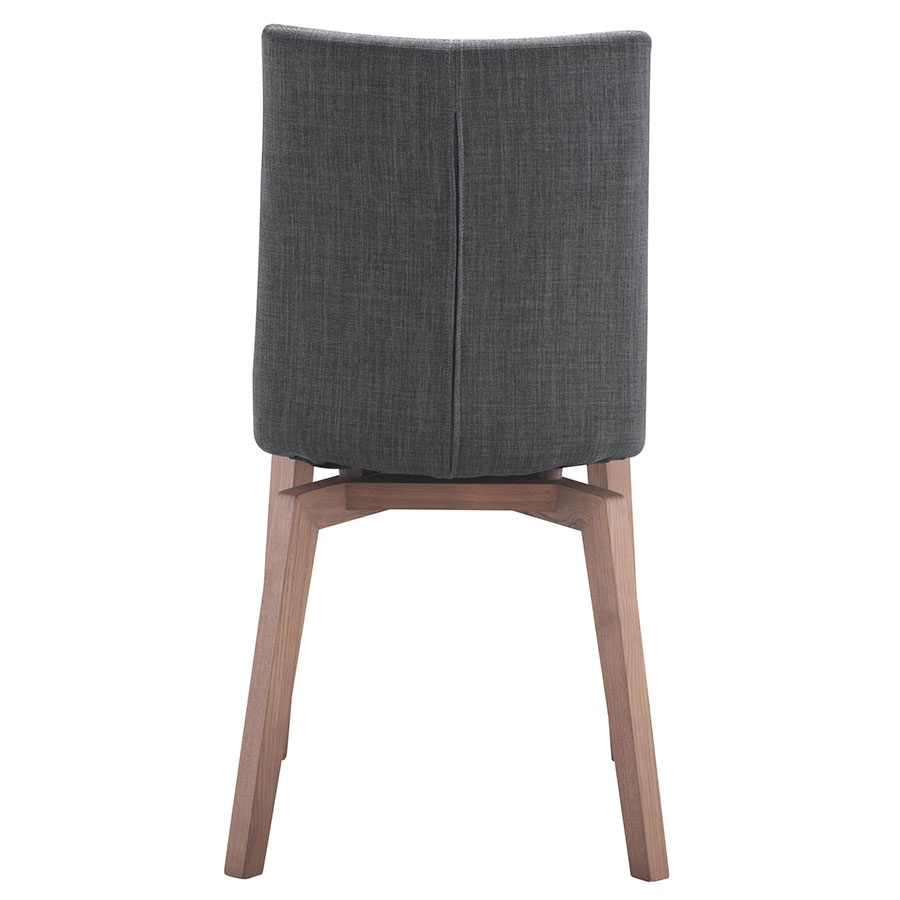 Orson Graphite Wood + Velour Contemporary Dining Chair