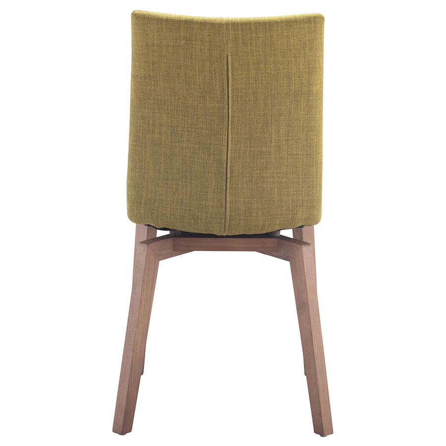 Orson Pea Walnut + Velour Contemporary Dining Chair