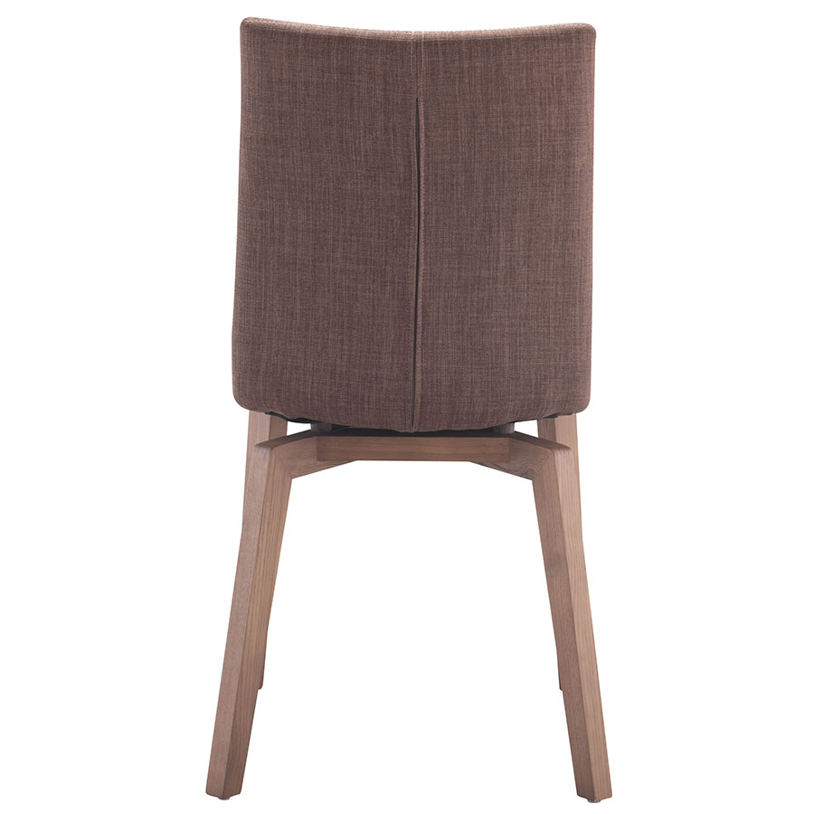 Orson Tobacco Wood + Velour Contemporary Dining Chair