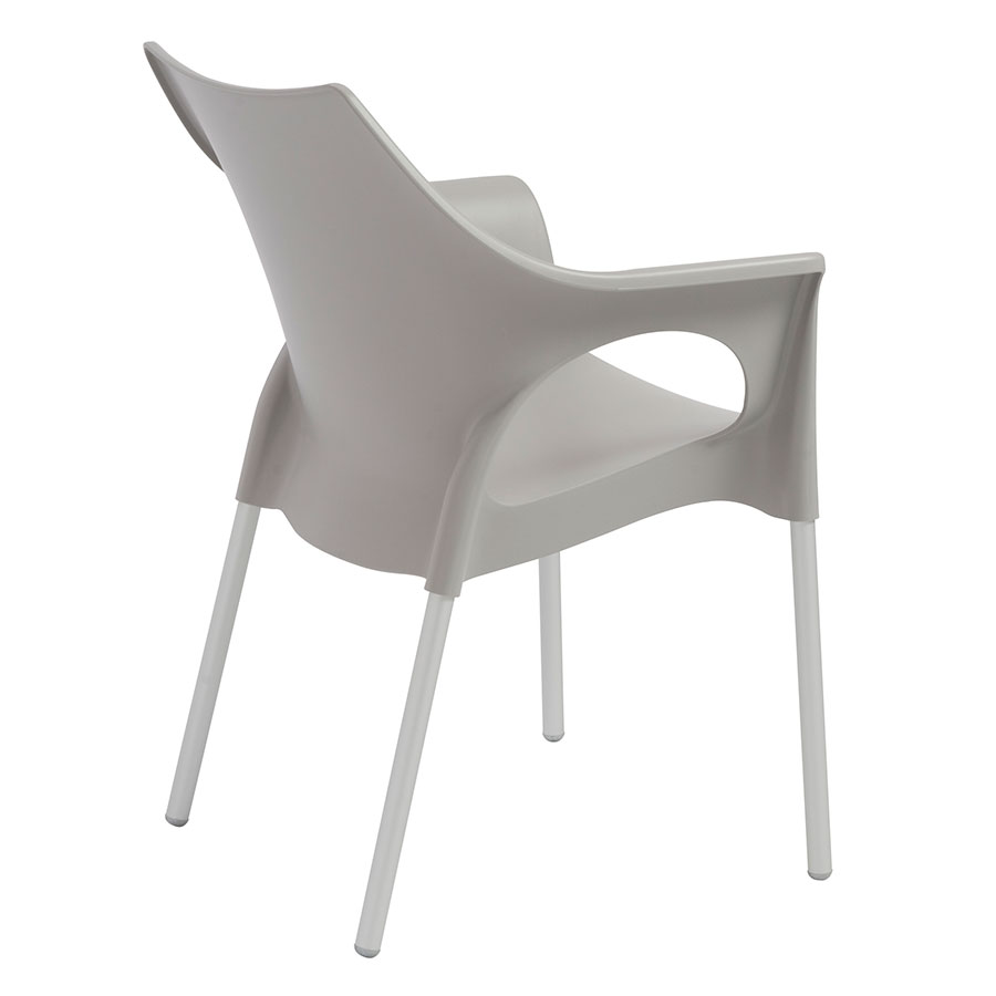 Ola Gray Contemporary Dining Chair