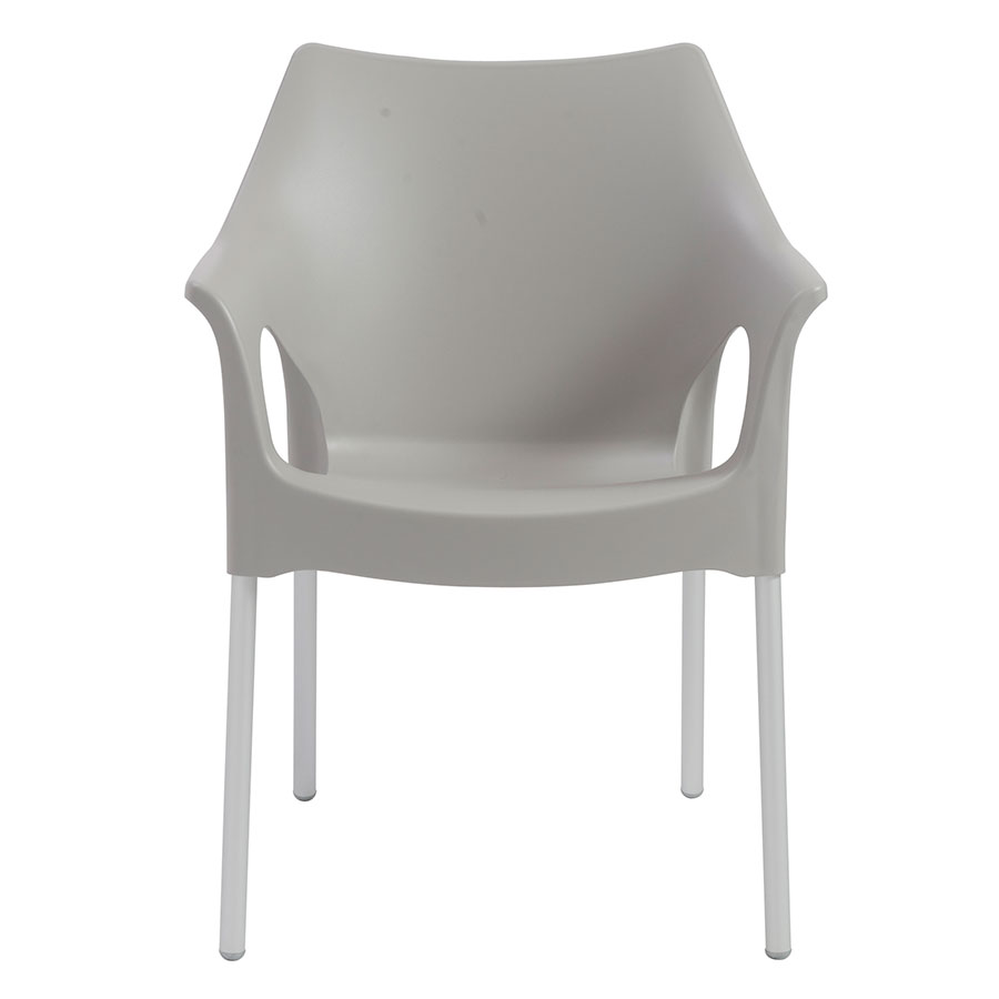 Ola Gray Contemporary Arm Chair
