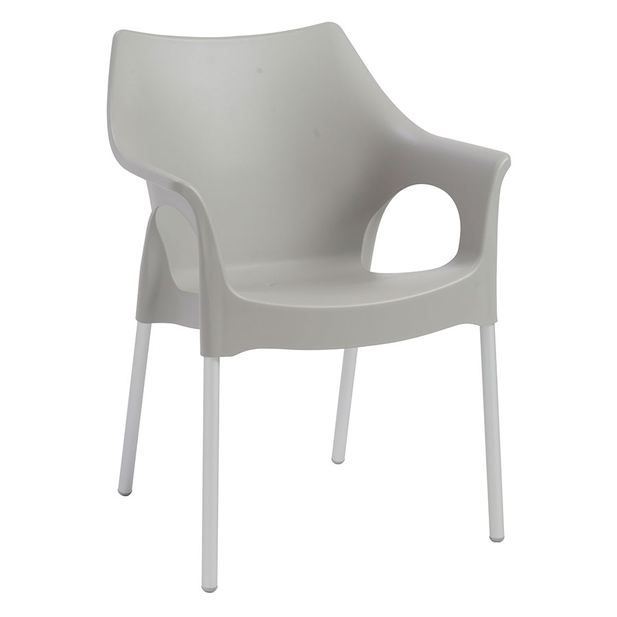 Ola Gray Modern Arm Chair