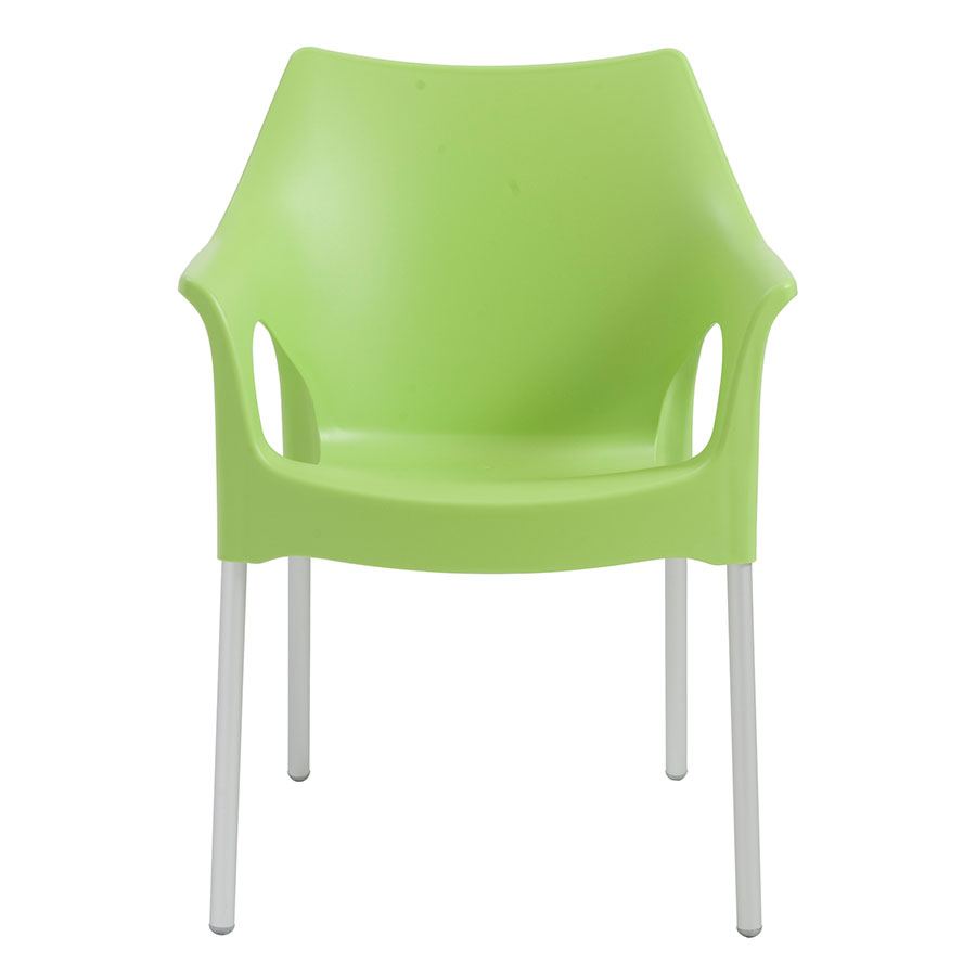 Ola Green Contemporary Dining Chair