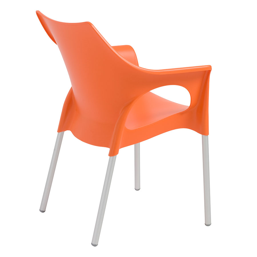 Ola Orange Contemporary Dining Chair