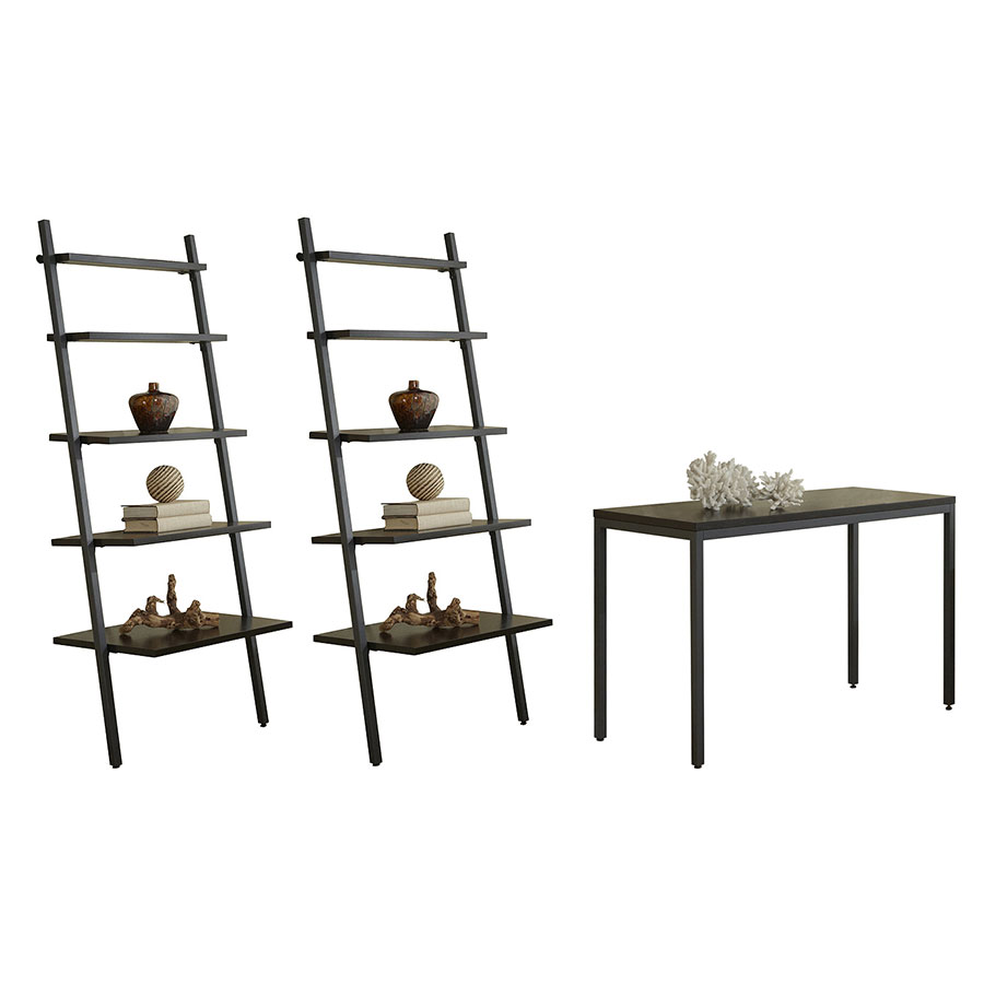 Paige 47 x 20 Writing Desk Set in Espresso